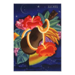 Aloha Save the Date Tropical Night Hawaiian Hawaii 3.5x5 Paper Invitation Card