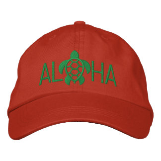 Aloha Seaturtle Embroidered Baseball Caps