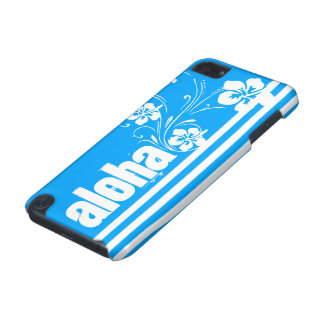 Aloha; Sky Blue Vertical Stripes; Striped iPod Touch 5G Cases