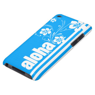 Aloha; Sky Blue Vertical Stripes; Striped iPod Touch Case-Mate Case