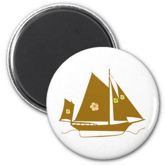 Aloha Souvenir Yacht 2 Inch Round Magnet