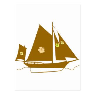 Aloha Souvenir Yacht Postcard