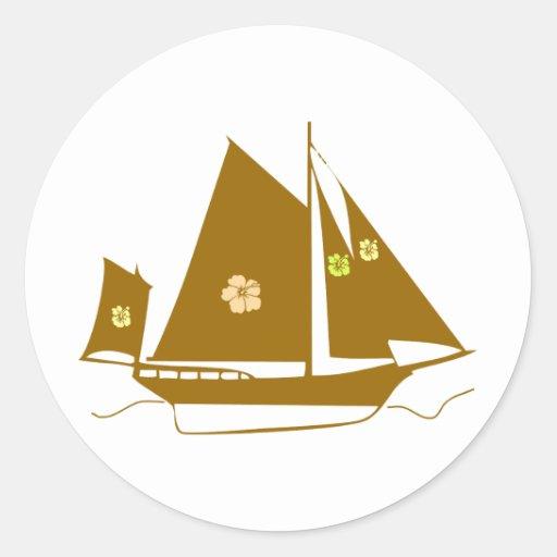 Aloha Souvenir Yacht Sticker