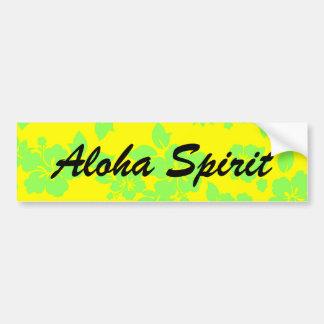 Aloha Spirit Bumper Sticker