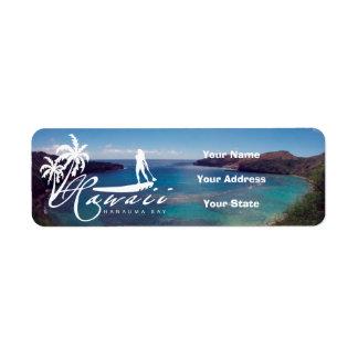 Aloha Stand Up Paddle and Hanauma Bay Return Address Label