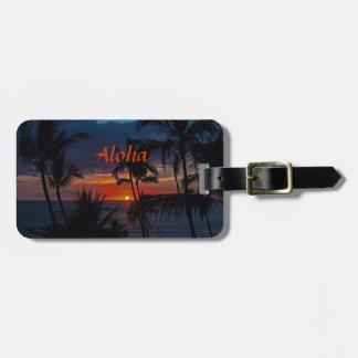 Aloha Sunset Bag Tag