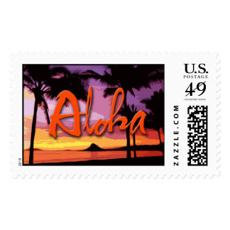 Aloha Sunset Stamp