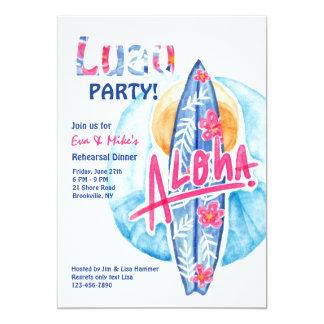 Aloha Surfboard Invitation