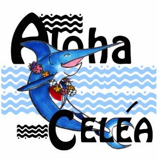 Aloha Swordfish Key Chain or Pool Bag Tag Statuette