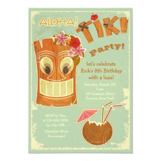 Aloha Tiki Party Invitation