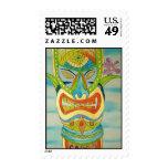Aloha Tiki Postage Stamps