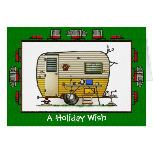 Aloha Trailer Camper Holiday Wish Card
