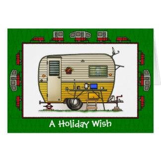Aloha Trailer Camper Holiday Wish Greeting Card