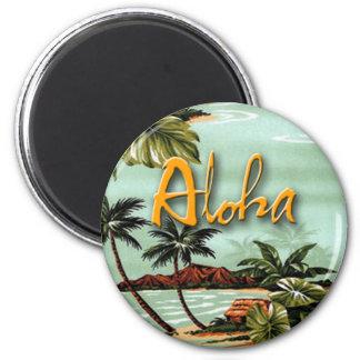 Aloha Tropical 2 Inch Round Magnet
