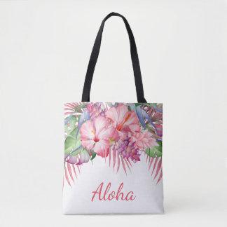 Aloha Tropical Floral Tote Bag