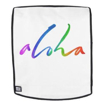 Hawaiian Themed Aloha - Tropical Hand Lettering - Hawaii Hawai'i Backpack