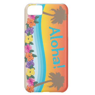 Aloha! Tropical Hawaiian sunset beach scene iPhone 5C Covers