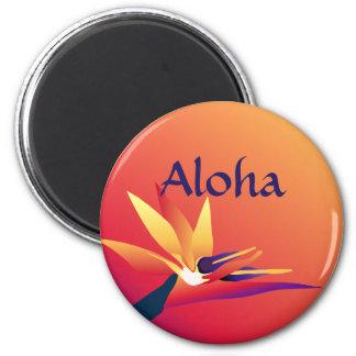 Aloha Tropical Luau Bird-of-Paradise Flower Magnet