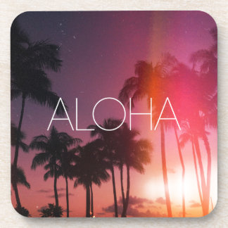 Aloha Tropical Night Drink Coaster