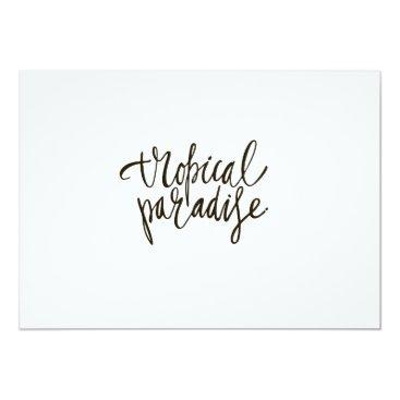 Beach Themed Aloha-Tropical Paradise Card