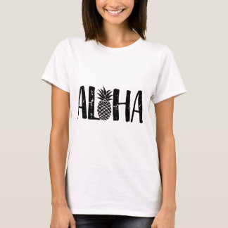 Aloha Tropical Pineapple Modern Beach T-Shirt