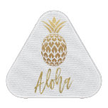 Aloha Tropical Pineapple White Gold Foil Speaker<br><div class='desc'>Aloha Tropical Pineapple White Gold Foil Bluetooth Speaker for listening to your favorite music at the pool or at the Beach.</div>