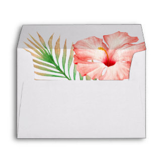 Aloha Tropical Watercolor Floral Envelope
