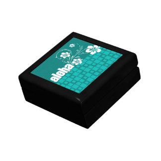 Aloha; Turquoise Squares; Retro Gift Boxes