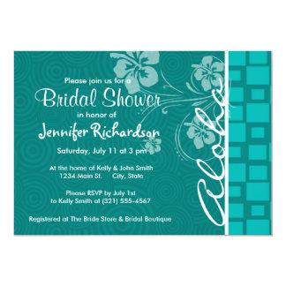 Aloha; Turquoise Squares; Retro Personalized Invites