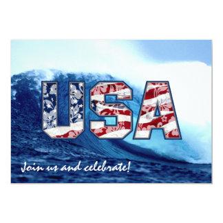 Aloha USA Wave Party Invitations
