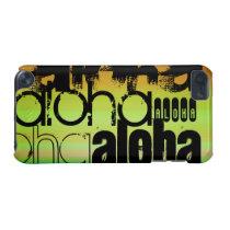 Aloha; Vibrant Green, Orange, & Yellow iPod Touch (5th Generation) Case