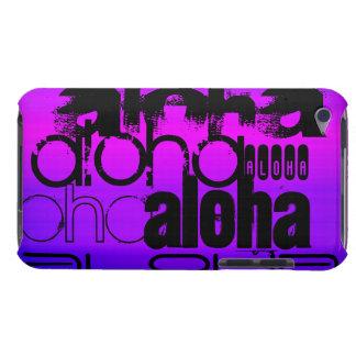 Aloha; Vibrant Violet Blue and Magenta iPod Case-Mate Case