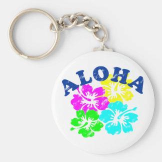 Aloha Vintage Basic Round Button Keychain