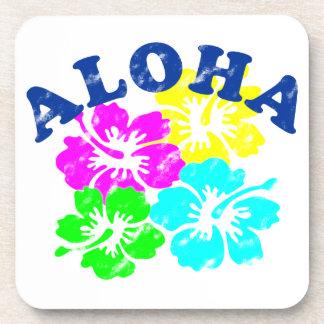 Aloha Vintage Beverage Coaster Hawaiian Flowers