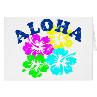 Aloha Vintage Greeting Card