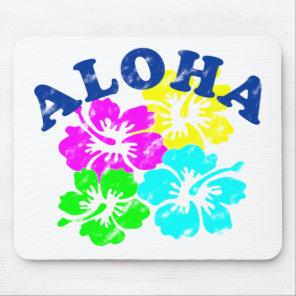 Aloha Vintage Flowers Mouse Pad Hawaiian Flowers