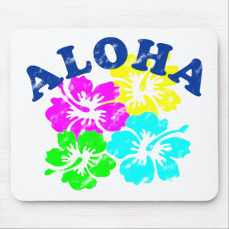 Aloha Vintage Flowers Mouse Pad Hawaiian Flowers
