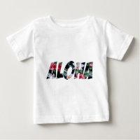 Aloha Vintage Hawaiian Print.png Baby T-Shirt