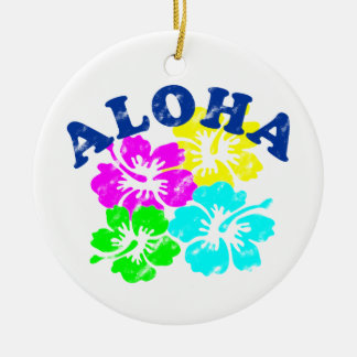 Aloha Vintage Ornament | Hawaiian Colorful Flowers