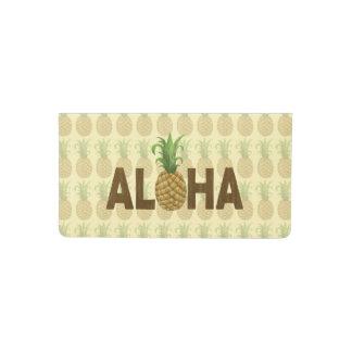 Aloha Vintage Pineapple Hawaiian Checkbook Cover