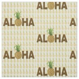 Aloha Vintage Pineapple Hawaiian Hawaii Fabric