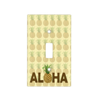 Aloha Vintage Pineapple Hawaiian Hawaii Light Switch Cover