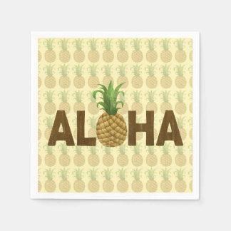 Aloha Vintage Pineapple Hawaiian Hawaii Paper Napkin