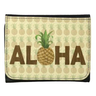 Aloha Vintage Pineapple Hawaiian Hawaii Wallets