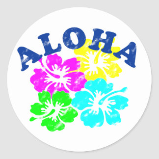 Aloha Vintage Classic Round Sticker