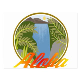 Aloha Waterfall Postcard