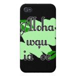 Aloha wau ia 'oe - Hawaiian I love you (4) Green K iPhone 4/4S Cover