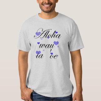Aloha wau ia 'oe - Hawaiian I love you Blue Hearts Tshirt