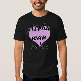 Aloha wau ia 'oe- Hawaiian I love you Purple Heart Tee Shirts