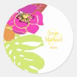 Aloha wedding stickers, custom trim